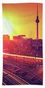 Berlin - Sunset Skyline Hand Towel