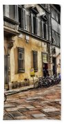 Bicycles In Florence Bath Towel