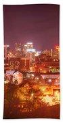 Birmingham Alabama Evening Skyline Hand Towel