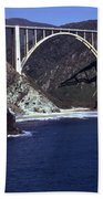 Bixby Creek Aka Rainbow Bridge Bridge Big Sur Photo  Bath Towel