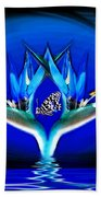 Blue Bird Of Paradise Bath Towel