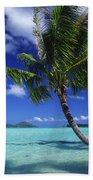 Bora Bora, Palm Tree Bath Towel