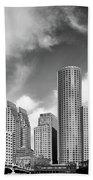 Boston Skyline 1980s Bath Towel