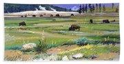 Buffaloes In Yellowstone Bath Towel
