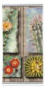 Cactus Collage Bath Towel