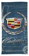 Cadillac 3 D Badge Over Cadillac Escalade Blueprint  Bath Towel
