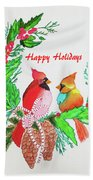 Cardinals Painted By Judith Brilhamte Bath Towel
