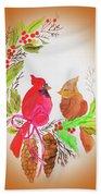 Cardinals Painted By Linda Sue Bath Towel