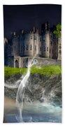 Castle In The Sky Art Hand Towel