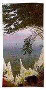 Chalk Cliffs On Rugen  Bath Towel