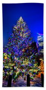Christmas Tree Near Panther Stadium In Charlotte North Carolina Bath Towel