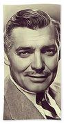Clark Gable, Vintage Actor Bath Towel