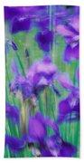 Close-up Of Purple Flowers Bath Towel