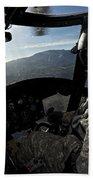 Co-pilot Flying A Ch-47 Chinook Bath Towel