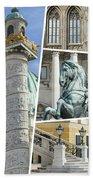 Collage Of Vienna Bath Towel