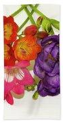 Colorful Freesia Bath Towel