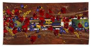 Colourful Abstract Painting Bath Towel