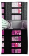 2 Column Stain Pink Bath Towel