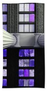 2 Column Stain Purple Bath Towel