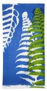 Cyanotype Print, Fern Bath Towel