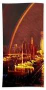 Docklands Double Rainbow Bath Towel