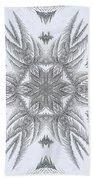 Fern Frost Mandala Hand Towel
