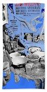Film Homage Esther Williams Skirts Ahoy 1952 St. Patrick's Day Party Tucson Arizona 1985-2012 Bath Towel