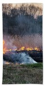 Fires Sunset Landscape Bath Towel