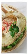 Fresh Crab Seafood Cream Mousse With Toast Tapas Snack Bath Towel