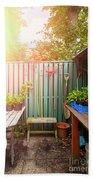 Garden Potting Table Bath Towel