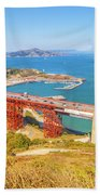 Golden Gate Bridge Vista Point Bath Towel