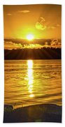 Golden Sunrise Waterscape Bath Towel
