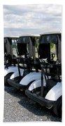 Golfing Golf Carts Bath Towel