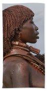 Hamer Tribe Woman, Ethiopia  Bath Towel