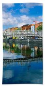 Hapenny Bridge, River Liffey, Dublin Bath Towel