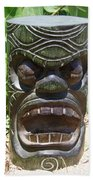 Hawaiian Tiki God Ku Bath Towel