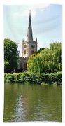 Holy Trinity Church At Stratford-upon-avon Bath Towel