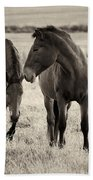 Horses Of The Fall  Bw Bath Towel