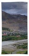 Indus River And Kargil City Leh Ladakh Jammu Kashmir India Bath Towel