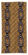 Iron Chains With Wood Seamless Texture Bath Towel