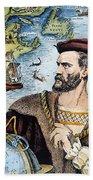 Jacques Cartier (1491-1557) Bath Towel