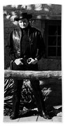 Johnny Cash Gunfighter Hitching Post Old Tucson Arizona 1971 Bath Towel