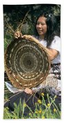 Kashia Pomo Woman Weaving Bath Towel