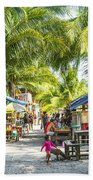 Koh Rong Island Main Village Bars In Cambodia Bath Towel