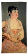 Lady In Pink Bath Towel