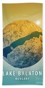 Lake Balaton 3d Little Planet 360-degree Sphere Panorama Bath Towel