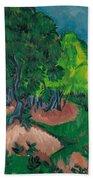 Landscape With Chestnut Tree Bath Towel