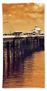 Llandudno Pier North Wales Uk Bath Towel