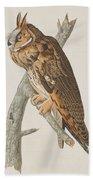 Long-eared Owl Bath Towel