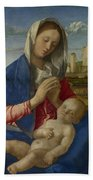 Madonna Of The Meadow Bath Towel